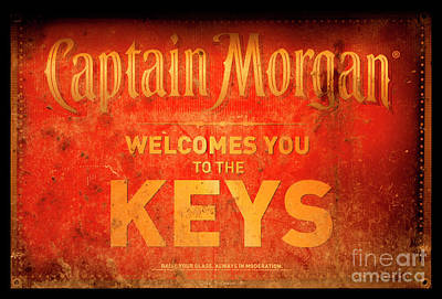 Captain Morgan Welcome To The Keys Poster by John Stephens