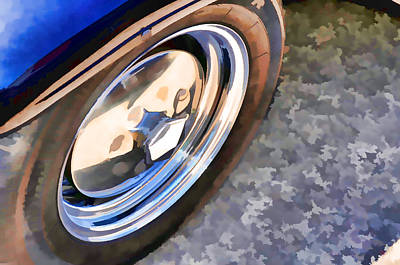 Car Wheel On A Car 3 Poster by Lanjee Chee