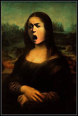 Caravaggio's Mona Poster by Gravityx9 Designs
