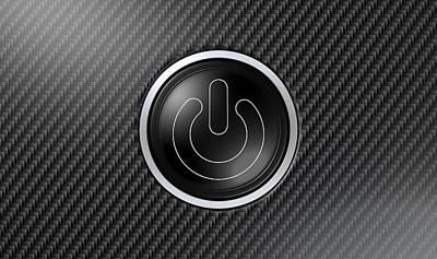 Carbon Fiber Power Button Poster by Allan Swart