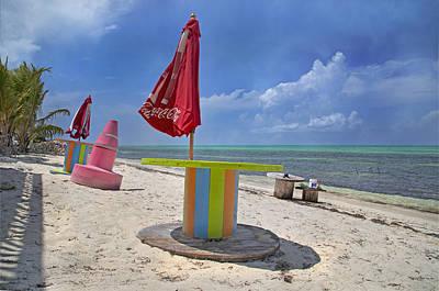 Caribbean Seaside Getaway Poster by Betsy C Knapp