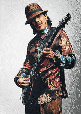 Carlos Santana Poster by Taylan Soyturk