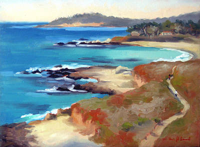 Carmel Beach Poster by Karin  Leonard