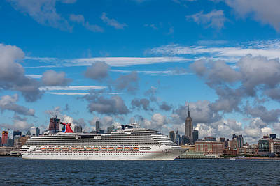 Carnival Cruise Splendor Nyc Skyline Poster by Terry DeLuco