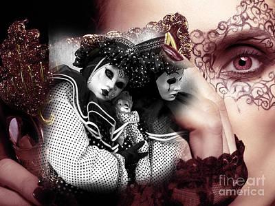 Carnival Dreams In Venezia Poster by John Rizzuto