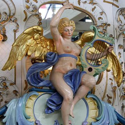 Carousel Angel Poster by Anne Babineau