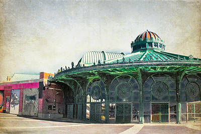 Carousel House At Asbury Park Poster by Colleen Kammerer