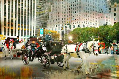 Carriage On Fifth Poster by Diana Angstadt