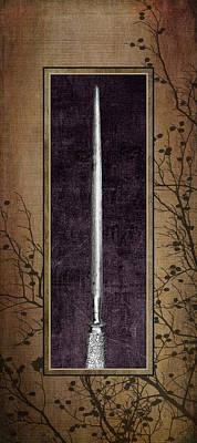 Carving Set Sharpener Triptych 3 Poster by Tom Mc Nemar
