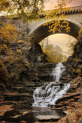 Cascadilla Falls Poster by Jessica Jenney