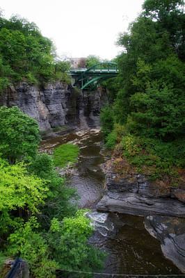 Cascadilla Gorge Cornell University Ithaca New York 01 Poster by Thomas Woolworth