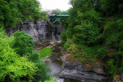 Cascadilla Gorge Cornell University Ithaca New York 02 Poster by Thomas Woolworth