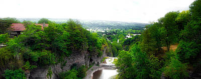 Cascadilla Gorge Cornell University Ithaca New York Panorama Poster by Thomas Woolworth