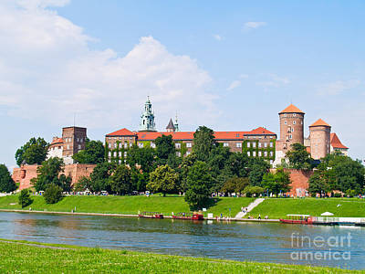 Castle At Wawel Hill In Krakow Poster by Anastasy Yarmolovich