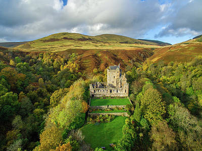 Castle Campbell Aerial Poster by Liam Anderstrem