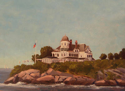 Castle Hill Newport Ri Poster by Betty Ann Morris