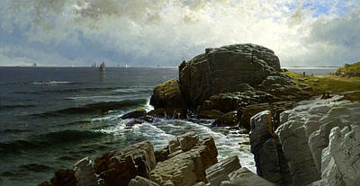 Castle Rock Marblehead Poster by Alfred Thompson Bricher