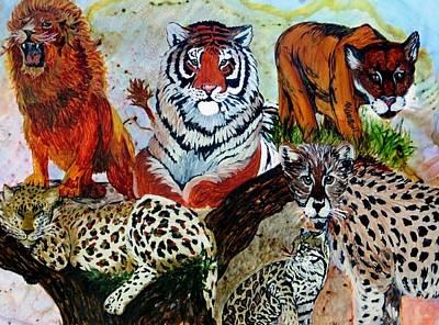 Cat Kingdom Poster by Liz Borkhuis