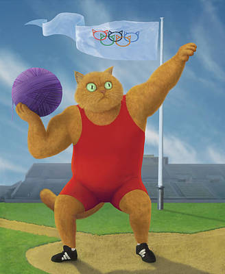 Cat Olympics Poster by Shai Biran