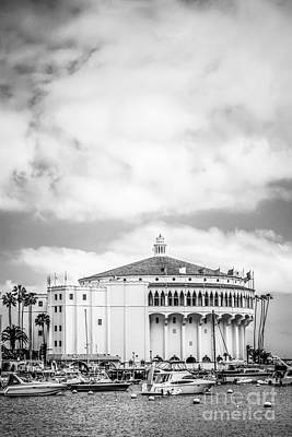 Catalina Casino Black And White Photo Poster by Paul Velgos