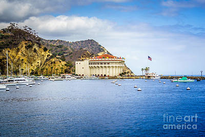 Catalina Island Casino Avalon Bay Picture Poster by Paul Velgos