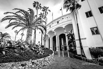 Catalina Island Casino Black And White Photo   Poster by Paul Velgos