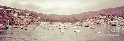 Catalina Island Retro Panorama Picture Poster by Paul Velgos