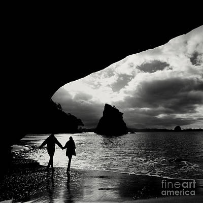 Cathedral Cove Poster by Varinia Blyth