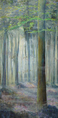 Cathedral Forest With Hyacinths Poster by Magali Gauthier