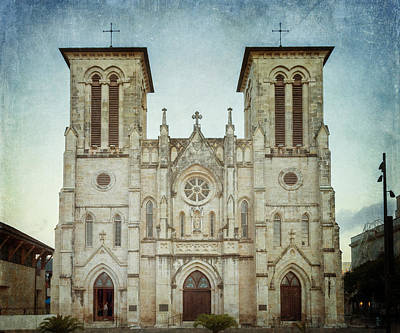 Cathedral Of San Fernando Poster by Joan Carroll