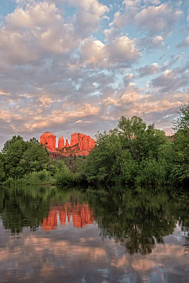Cathedral Rock Sunset Poster by Loree Johnson