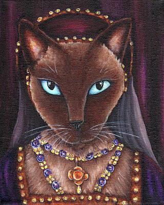 Catherine Howard Cat Poster by Tara Fly