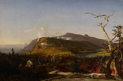 Catskill Mountain House Poster by Jasper Francis Cropsey