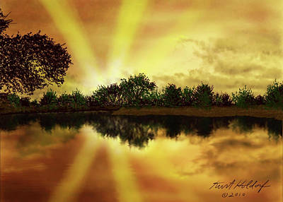 Cedar Creek Sunset Poster by Kurt Holdorf