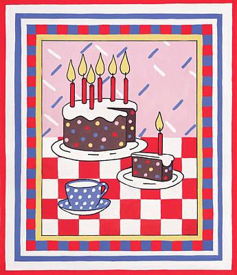 Celebration Cake Poster by Lavinia Hamer