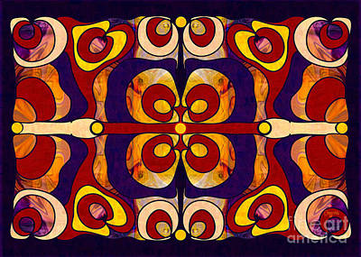 Celebration Of Sanity Abstract Bliss Art By Omashte Poster by Omaste Witkowski