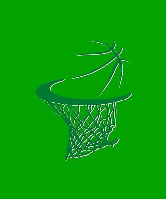Celtics Basketball Hoop Poster by Joe Hamilton