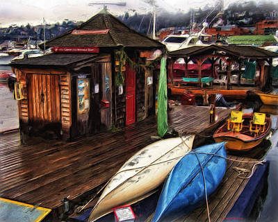 Center For Wooden Boats Poster by Thom Zehrfeld
