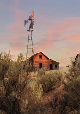 Central Oregon Sunset Poster by Angie Vogel