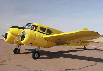 Cessna T-50 Bobcat N59188 Casa Grande Airport Arizona March 5 2011 Poster by Brian Lockett