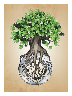 Chainring Tree Poster by John Petersen