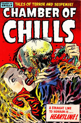 Chamber Of Chills 23 Poster by Halloween Dreams