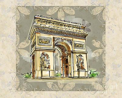 Champs Elysees Paris Poster by Bedros Awak