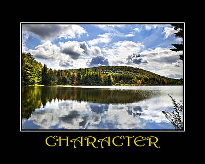 Character Inspirational Motivational Poster Art Poster by Christina Rollo