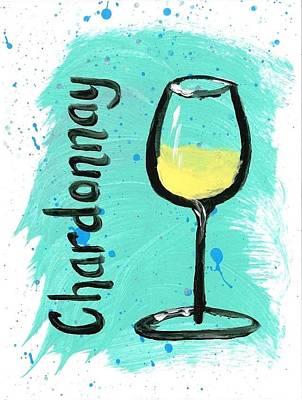 Chardonnay Splash Poster by Alyson Appleton