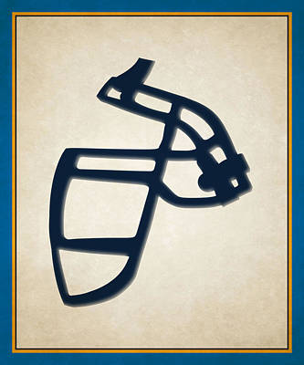 Chargers Face Mask Poster by Joe Hamilton