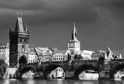 Charles Bridge Prague Czech Republic Poster by Matthias Hauser