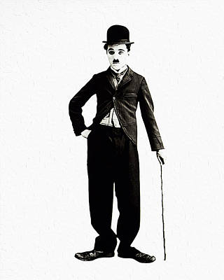 Charles Chaplin Poster by Queso Espinosa