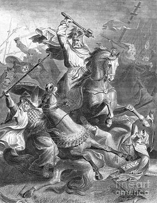 Charles Martel, Battle Of Tours, 732 Poster by Photo Researchers