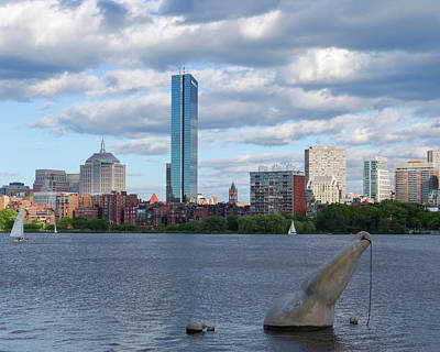 Charles River Boston Ma Crossing The Charles Poster by Toby McGuire